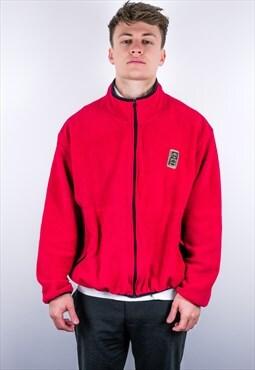 Vintage Timberland Fleece Jacket in Red