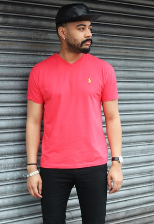 VINTAGE RALPH LAUREN RED T-SHIRT