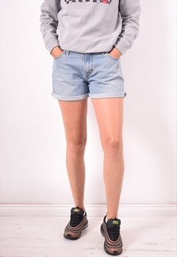 Levi's 515 Womens Vintage Denim Shorts W32 Blue 90s