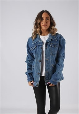 Denim Jacket MAVERICK Oversized Fitted UK 16 - 18 (DK4C)
