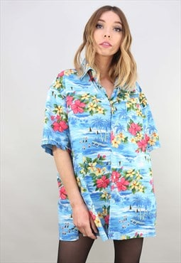 Vintage Retro Oversized Short Sleeve Hawaiian Shirt