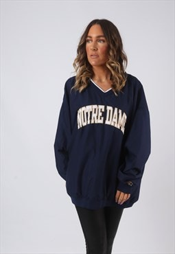 Sweatshirt Jumper Oversized Print VARSITY UK 20 - 22  (CWBJ)