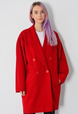 Vintage 90s Red Coat