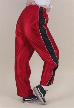 Vintage 90's Adidas Tracksuit Bottoms Popper Pants /AB1029