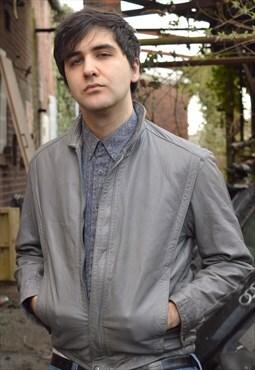 Vintage Grey Leather Jacket