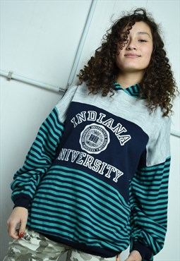 Vintage 80s slogan logo print sweatshirt jumper