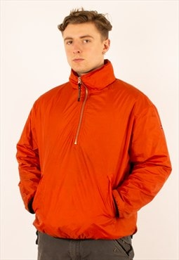 Vintage 90s Orange Tommy Hilfiger Quarter Zip Jacket
