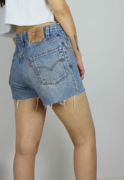 Vintage Levi's Distressed Denim Shorts w Red Tab Logo Back