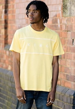 Stepney T-shirt in Yellow with White Print