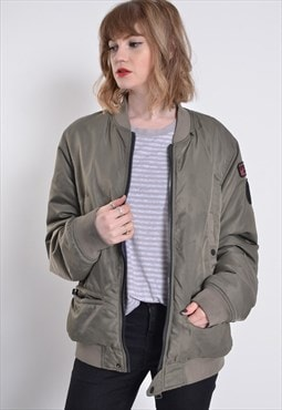 Vintage Replay Bomber Jacket Green