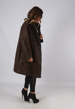 Sheepskin Suede Leather Shearling Coat UK 20  (KEA)