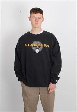 Vintage Starter Steelers Sweatshirt Black
