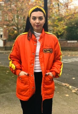 Orange USA Bomber Jacket