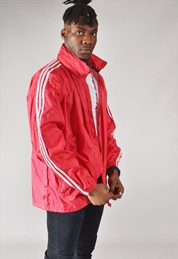 Vintage Adidas Windbreaker Jacket Red