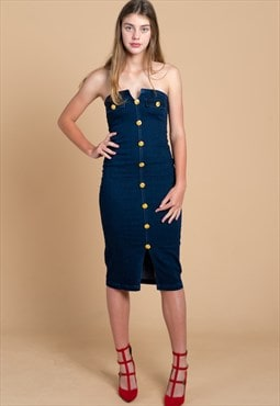 Skye Denim Tube Dress