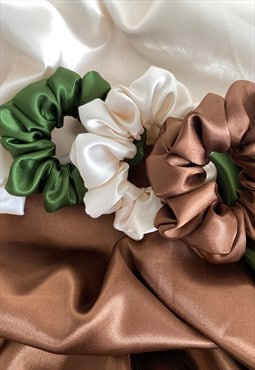 Handmade Satin Hair Scrunchies , scrunchies gift set