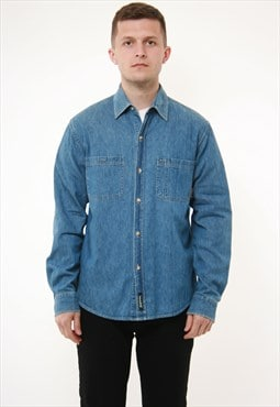 Vintage Oldschool Timberland Cotton Denim Shirt 14408