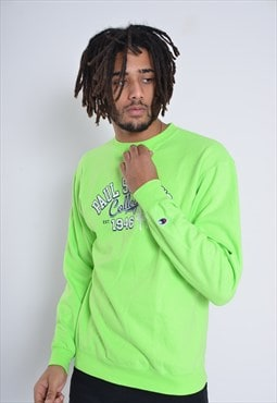 Vintage Champion Sweatshirt Jumper Green