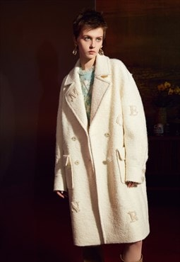 White Winter Long Coat