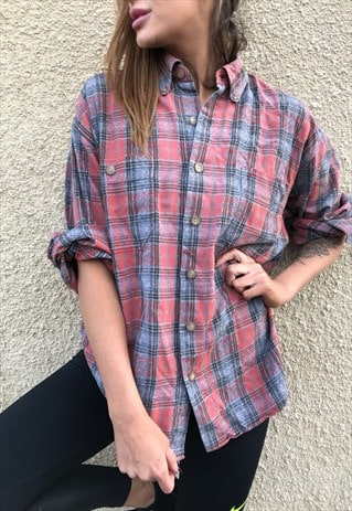 VINTAGE FLANNEL OVERSIZED RETRO UNISEX SHIRT