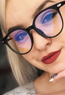 Sam Blue Light Retro Glasses Black