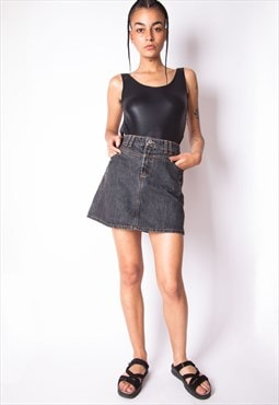 Vintage 90s Dolce & Gabbana Mini Denim Skirt ID:8081