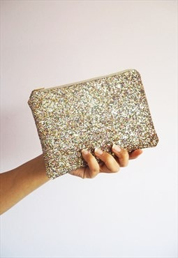 Rainbow Glitter Makeup Bag