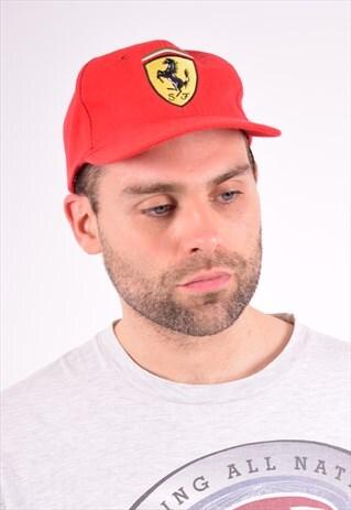 FERRARI MENS VINTAGE CAP ONE SIZE RED 90'S
