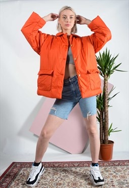 Vintage Nautica outdoor jacket in orange.