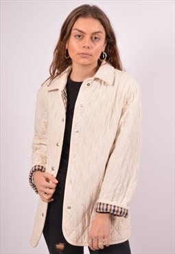 Vintage Aquascutum Quilted Jacket Oversized Beige