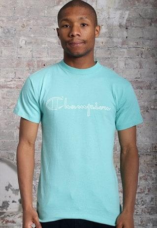 c99161dfe94b Vintage Champion Print Logo T-Shirt Blue | The SE Archive | ASOS ...