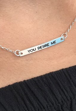 YOU DESIRE ME - Necklace, sterling silver 925