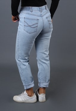 Jeans Straight Leg Mid Waisted Vintage Denim UK 10 (H6BM)