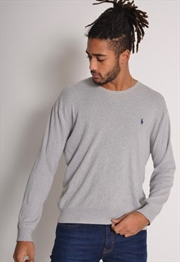 Vintage Polo Ralph Lauren Knitted Sweater Grey