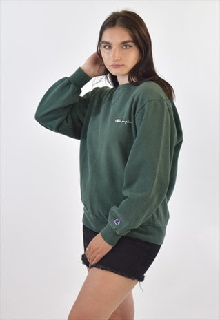 VINTAGE 90S GREEN CHAMPION CREW NECK SWEATSHIRT