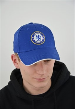 Vintage Chelsea Football Soccer Club Cap in blue color