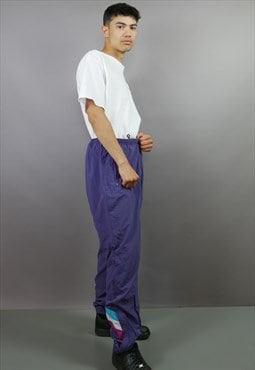 Purple Adidas Originals Joggers Trackies Shell Suit