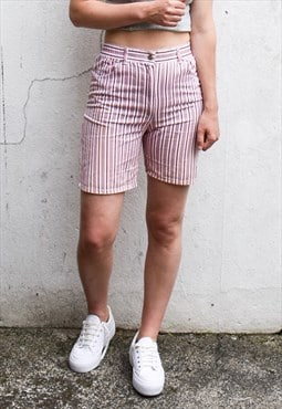 Vintage 90s Striped Denim Shorts