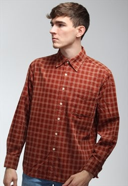 Vintage Check Corduroy Shirt in Red