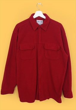 Vintage 90's CHEROKEE Oversized Fleece Shirt in Red