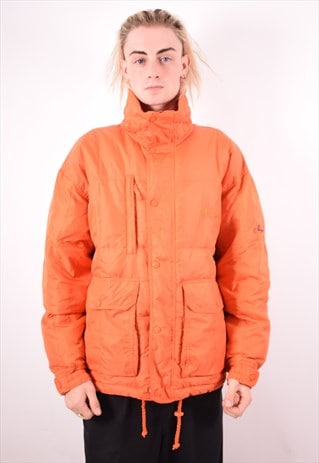 ELLESSE MENS VINTAGE PADDED JACKET LARGE ORANGE 90S