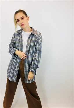 Vintage Plaid Oversized Flannel Shirt