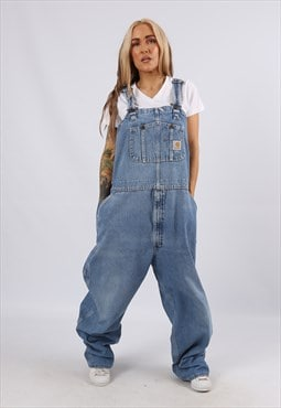 Vintage USA CARHARTT Denim Dungarees Wide UK 20 3XL (5AP)