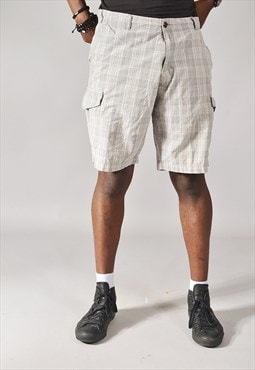 Vintage Dockers Checked Chino Shorts Grey
