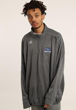 Vintage Adidas Embroidered College 1/4 Zip Sweatshirt