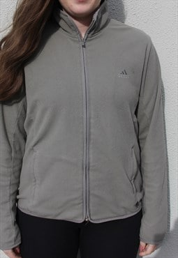 Vintage Adidas Fleece Khaki Size Women's Small