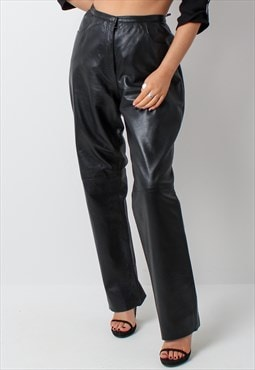 Vintage 90s y2k real leather trousers