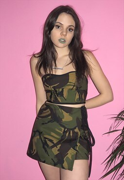 green camouflage co-ord