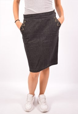 Vintage Kenzo Denim Skirt Black