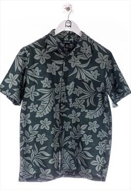 Vintage cherokee  Hawaiihemd Floral Muster Gruen
